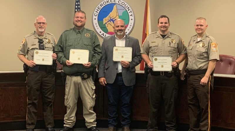 Cherokee County Sheriff's Office Announces Promotions