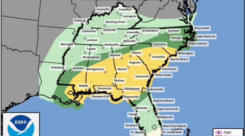 Severe Weather Possible Across The South This Saturday