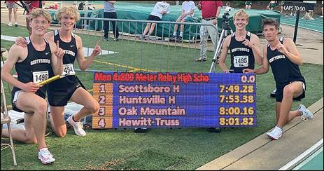 Scottsboro 4×800 Relay Team Clocks Nation's Third Fastest Time of 2021