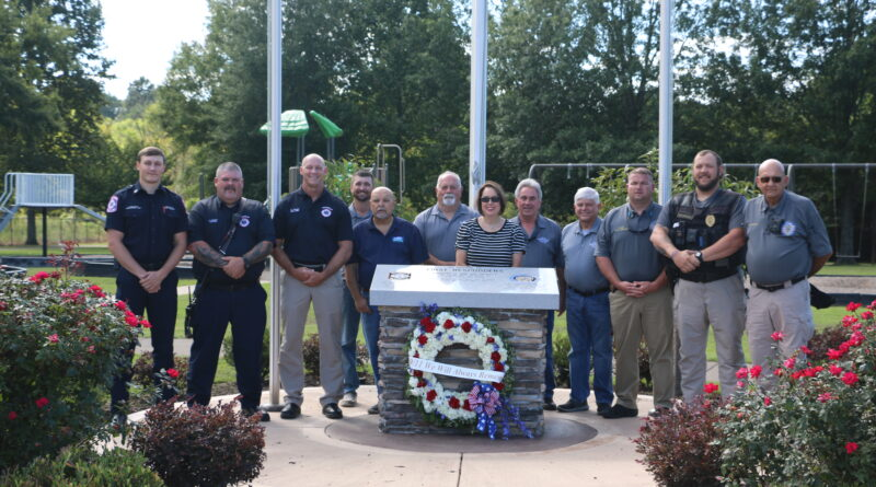 Rainsville First Responders and City Council Placed A Wreath in Remembrance of 9/11